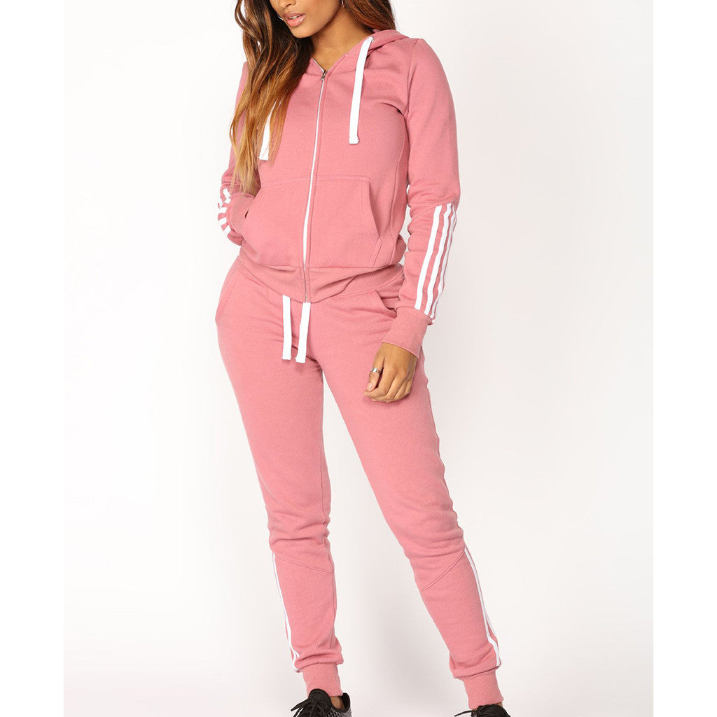 Plus Size Autumn Women Hoodies Pant Clothing Set 2020