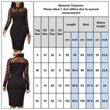 Polka Dot Print Mesh Dress 2020 Women Patchwork Vintage Black Midi Dress 2020 Button Elegant Black Party Dress 2020 Knee-Length Dress