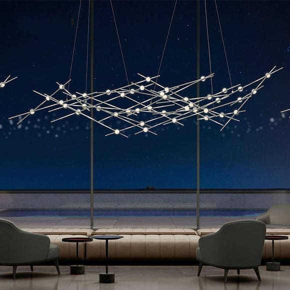 Postmodern Creative Led Chandelier Light 2020 Dining Living Room Branch Art Hanging Lamp Home Indoor Designer Star Chandelier Light 2020 Best Seller! Chandelier Light Fixture