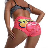 Candy Cartoon Printed Shorts 2020 Booty Bar Mini Sexy Snack Pink Shorts 2020 Club Party Fitness Push Up Pink Bubbaloo Shorts 2020