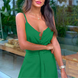 Sexy Front Buttons Long Boho Dress 2020 Sleeveless V Neck Slim Women Sexy Long Dresses 2020 Beach Style Dress   Swansstyle