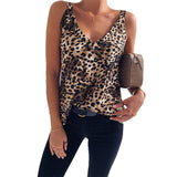 Sexy Leopard Print Tank Top 2020 Women Summer Sleeveless Tank Top 2020 Casual V-neck Leopard Print Tee   Swansstyle