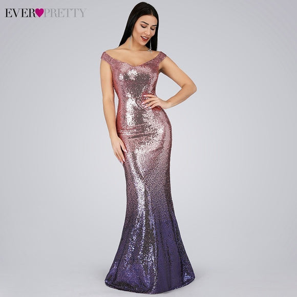 Cheap Prom Dresses, Sequin Prom Dresses 2020 V-Neck Mermaid Sleeveless Prom Dresses 2020 Sequined Spaghetti Strap EB29998 Gowns for Party Vestidos de Gala