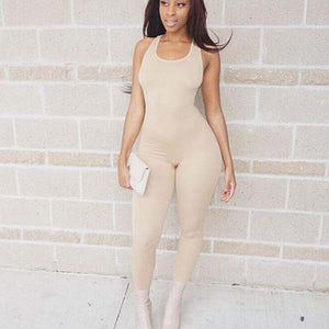 Sexy Sleeveless Summer Jumpsuit 2020 Women Rompers Womens Jumpsuit Casual Skinny Sportswear Jumpsuit 2020 One Piece Overalls