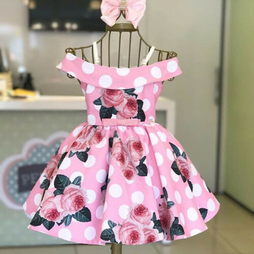 Summer Baby Girl Clothes Newborn Toddler Cotton Print Short Sleeve Dress Outfits