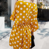 Summer Polka Dot Printed Dress 2020 Casual Batwing Sleeve Loose Dress 2020 Women Mini Party Dress Summer Holiday Dresses 2020