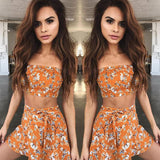 Summer Women Clothing Set Off shoulder Tops T-shirt + Skirt Women New Fashion Floral Sexy Clothes   Swansstyle