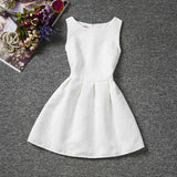 New Arrival Flower Girl Dresses 2020 O-neck Sleeveless Dress Solid Color Flora Pattern A-line Flower Girl Pageant Vestidos