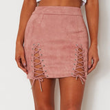 Women Bandage Suede Skirt 2020 Elastic Short Skirt Clothing Female Jupe Femme Womens Faldas Summer Sexy Skirt 2020