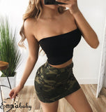 Summer Off Shoulder Boob Crop Tops 2020 Strapless Blouse Bandeau Tube Top 2020 Sexy Black Crop Top Hot Girl Clothing   Swansstyle