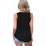 Women's Criss Cross Shirt 2020 Womens Tops Summer Sleeveless Shirts Criss Cross Casual Basic Tee Shirts 2020 Cotton Solid Plus Size T shirts US Size S 5XL