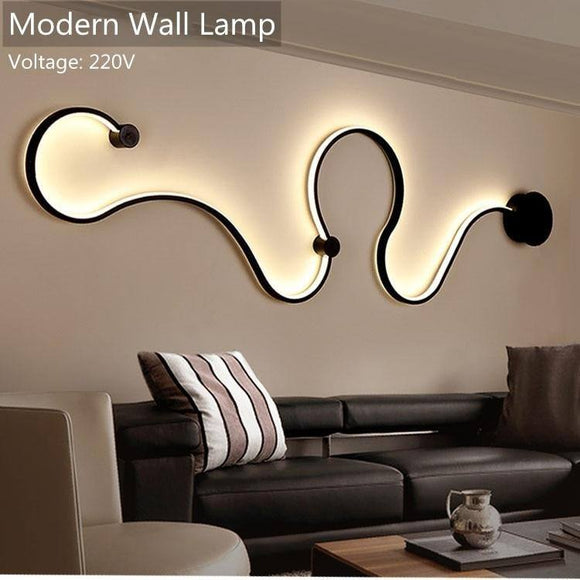 Modern Wall Lamp 2020 for bedroom study living balcony room Acrylic home decor in White black iron body sconce LED lights Fixtures