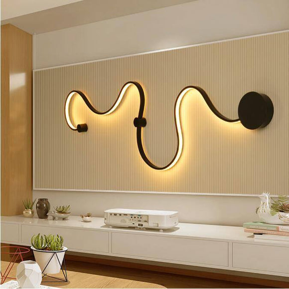 Simple creative wall lamps with white or balck color for bedroom