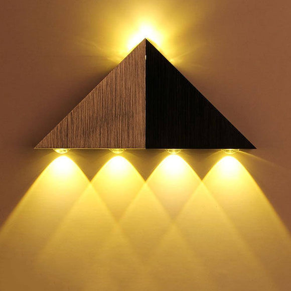 Modern Triangle Led Wall Lamp 2020 AC90-265V High Power Led Wall Light Home Lighting Aluminum Led Wall Luminaire For Home Decoration