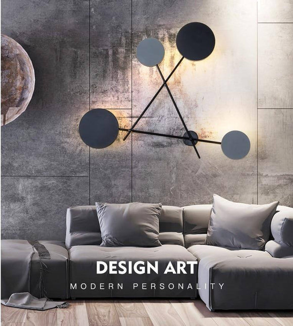 Modern Industry Round Wall Lamp 2020 Bedroom Bedside Lamp 2020 Led Wall Sconce Light Fixtures Black Iron Luminaire Indoor Loft Home