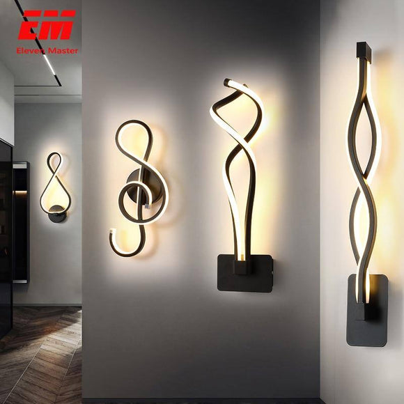 Modern Minimalist Wall Lamp 2020 Living Room Bedroom Bedside 16W AC85V-265V LED Sconce black white Lamp 2020 Aisle Lighting decor ZBD0030