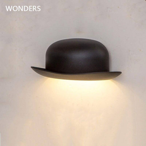 Modern minimalist LED aluminum wall lamps bedside bathroom light Creative Indoor lamps Bedroom(IP55) Nordic style hat wall light