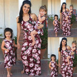 Coordinating Mother Daughter Outfits Family Matching Dress Mother And Daughter Floral Print Maxi Dresses Outfits