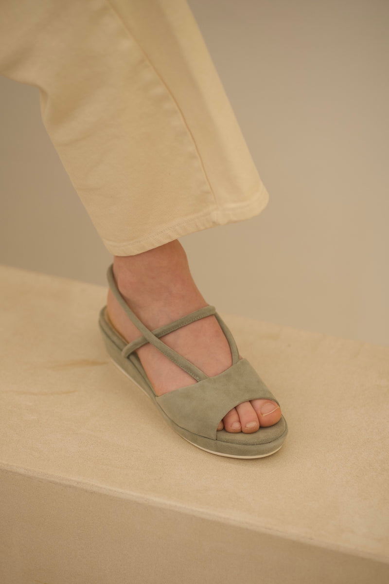 Ginza Sandale Velours Gris / size 37