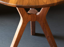 Load image into Gallery viewer, Trichotomic Tripod Table in Walnut
