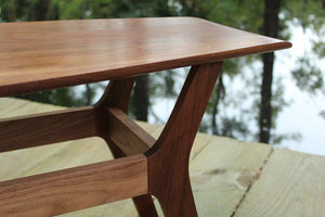 Spicoli Danish Surfboard Coffee Table in Walnut