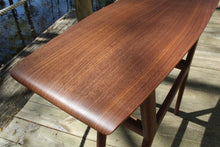 Load image into Gallery viewer, Mid Century Surboard Console Table in Quarter-Sawn Walnut - anderson-furniture-and-design