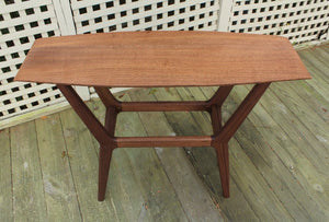 Mid Century Surboard Console Table in Quarter-Sawn Walnut - anderson-furniture-and-design