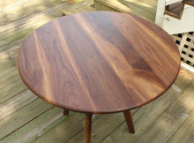 Load image into Gallery viewer, Round Collapsible Buffet Dining Table in Walnut - anderson-furniture-and-design