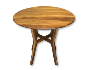 Round Collapsible Buffet Dining Table in Walnut - anderson-furniture-and-design