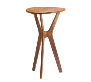 Morello Guitar Pick Side Table in Walnut - anderson-furniture-and-design
