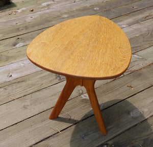 Morello Guitar Pick Side Table in Iroko - anderson-furniture-and-design