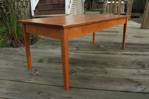 Tapered Leg Coffee Table in Cherry - anderson-furniture-and-design