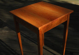 Tapered Leg Side Table In Cherry - anderson-furniture-and-design