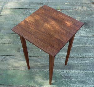 Shaker Inspired End Table in Walnut - anderson-furniture-and-design