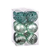 SET 12 palline TIFFANY in plastica d.6cm