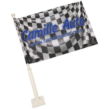"Load image into Gallery viewer, 10.5 X 16"", DOUBLE SIDED, SUBLIMATABLE, CAR FLAG WITH POLE"