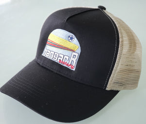 Black Recycled Trucker