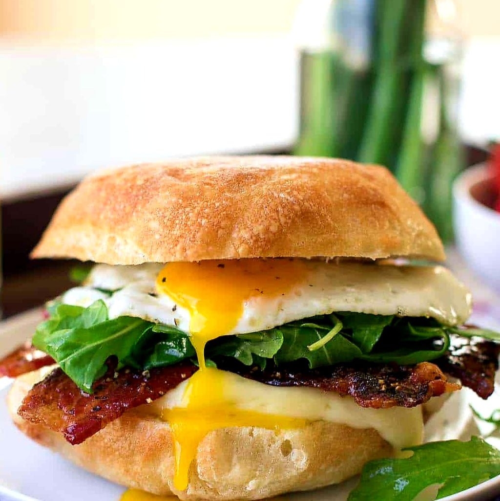Applewood Smoked Bacon + Fried Egg Sandwich