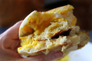 Crab Cake Breakfast Sandwich