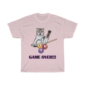 Game Over Funny Bengal Cat T Shirt