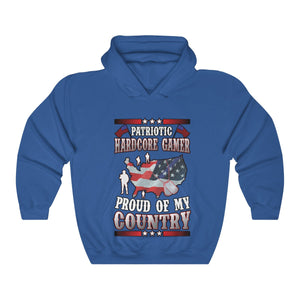 Patriotic Gamer Hooded Sweatshirt