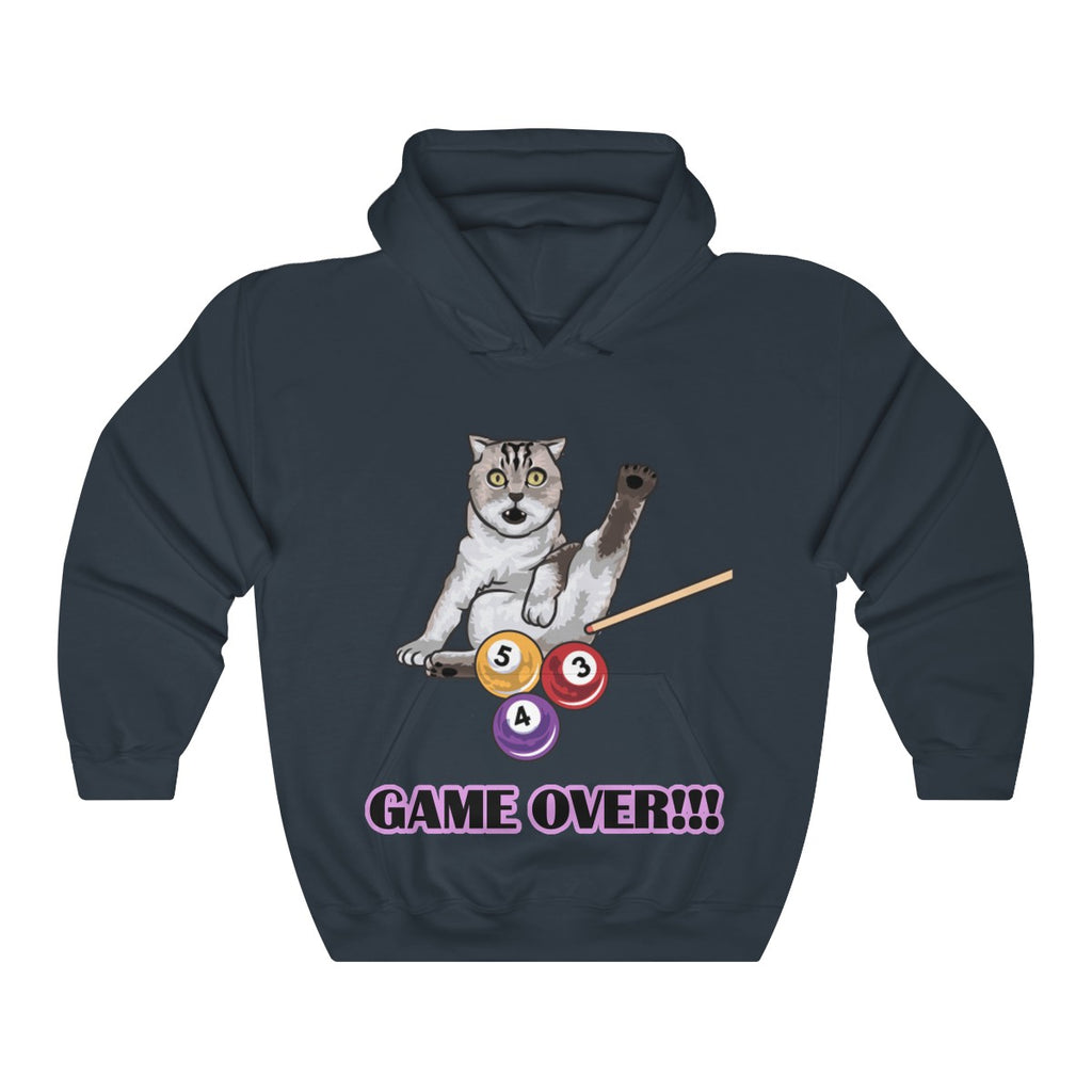 Game Over Funny Bengal Hooded Sweatshirt