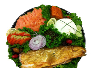 Smoked Fish Platter (per serving)