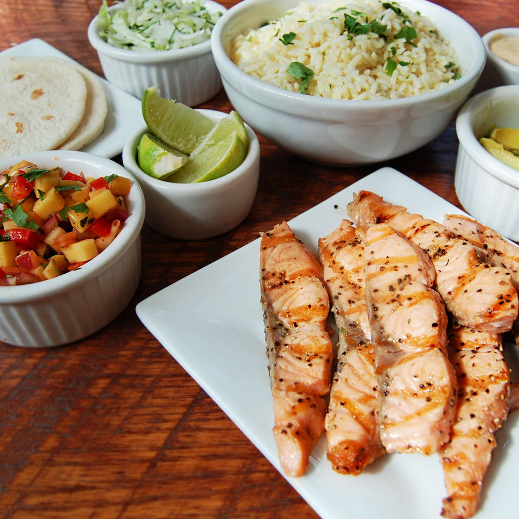 Grilled Salmon Taco Kit