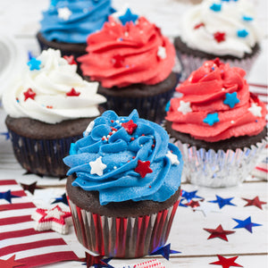 4th of July Cupcake Vanilla