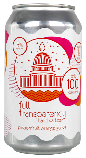 Full Transparency Passion Fruit Guava Hard Seltzer 6 pack