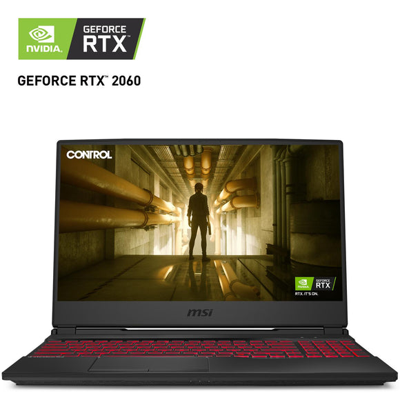 Laptop Gamer Geforce RTX 2060 MSI GL65 Leopard I7 10750H 16GB 256GB SSD 1TB 15.6
