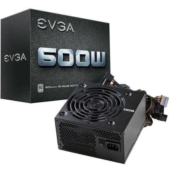 Fuente de Poder PC 600W Gamer EVGA 80 Plus White 100-W1-0600-K1