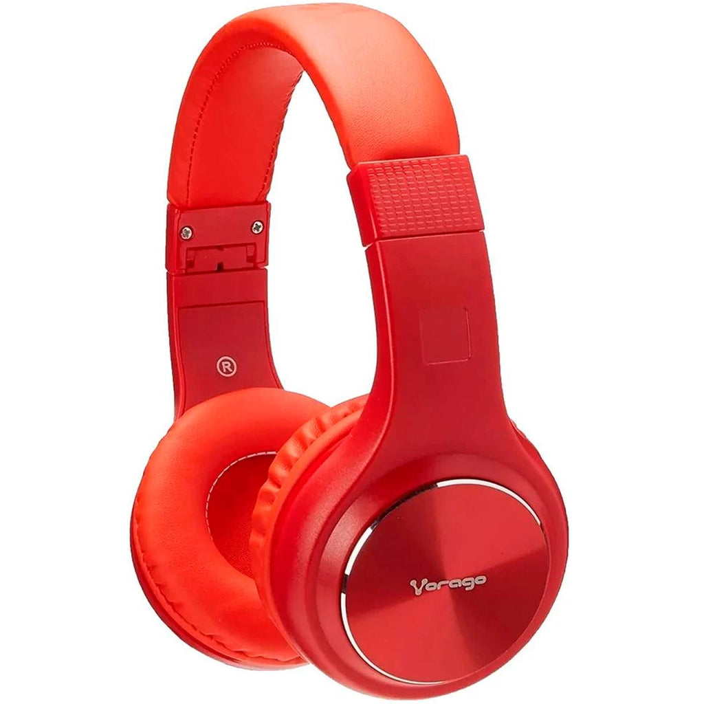 Diadema VORAGO HeadPhone Plegable Rojo Bluetooth MSD RadioFM HPB-300