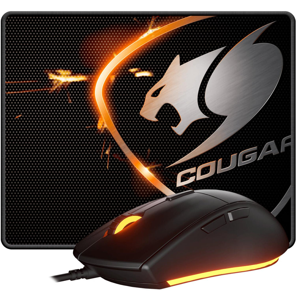 Kit Gamer COUGAR MINOS XC + SPEED XC Mouse 4000dpi Mouse pad